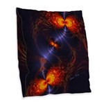 Dance of the Abstract Eyes Burlap Throw Pillow