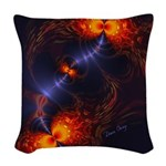 Dance of the Abstract Eyes Woven Throw Pillow