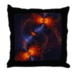 Dance of the Abstract Eyes Throw Pillow