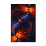 Dance of the Abstract Eyes Mini Poster Print
