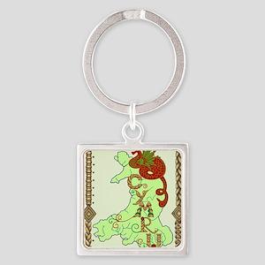 cymru1 Square Keychain