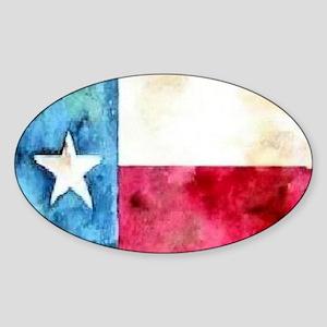 TEXAS FLAG Antique Sticker (Oval)