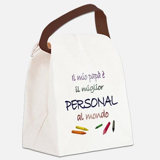 il mio papa miglior personal Canvas Lunch Bag