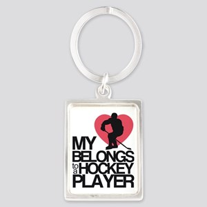 hockeyplayer Portrait Keychain