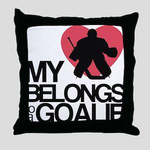 goalie Throw Pillow
