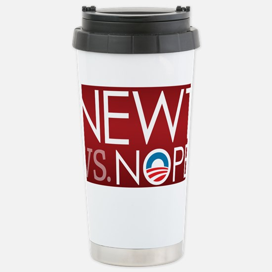 button_nope_01 Stainless Steel Travel Mug