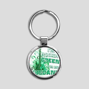 Im Rockin Green for my Husband Round Keychain