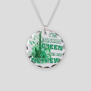 Im Rockin Green for my Nephe Necklace Circle Charm