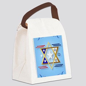 flag isreal america PosterP Canvas Lunch Bag