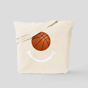 Basketball Smile White Tote Bag