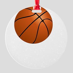 Basketball Smile White Round Ornament