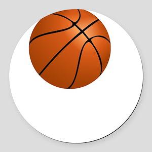 Basketball Smile White Round Car Magnet