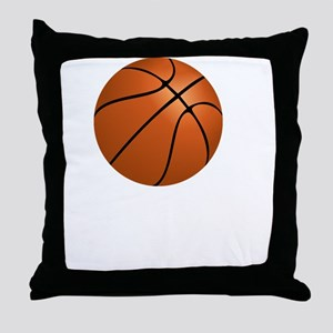 Basketball Smile White Throw Pillow