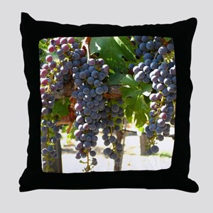 DHPurpGrapes3_11X14 Throw Pillow