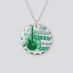 Im Rockin Green for my Son Necklace Circle Charm