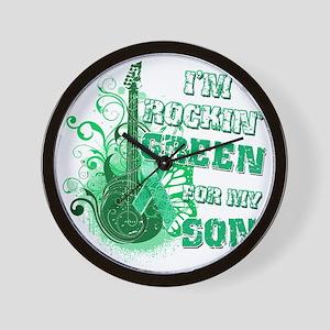 Im Rockin Green for my Son Wall Clock
