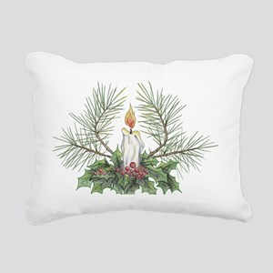 Yule Candle clean Rectangular Canvas Pillow