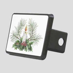 Yule Candle clean Rectangular Hitch Cover