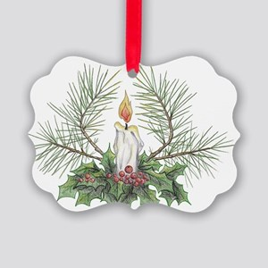 Yule Candle clean Picture Ornament