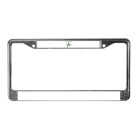 Pea Shooter! License Plate Frame