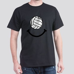 Volleyball Smile Black Dark T-Shirt