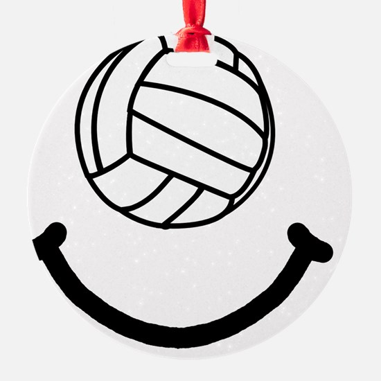 Volleyball Smile Black Ornament