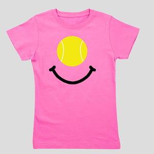 Tennis Smile Black Girl's Tee
