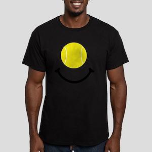 Tennis Smile Black Men's Fitted T-Shirt (dark)