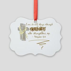 Philippians 413 Picture Ornament