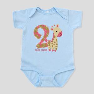2nd Birthday Giraffe Personalized Infant Bodysuit