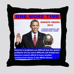 Obama-inauguration-One-More-Time Throw Pillow