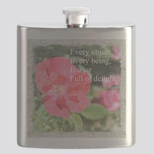 Rumi Quote Painted Rose Flask