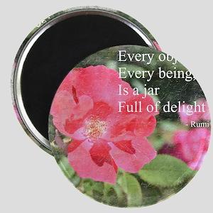 Rumi Quote Painted Rose Magnet