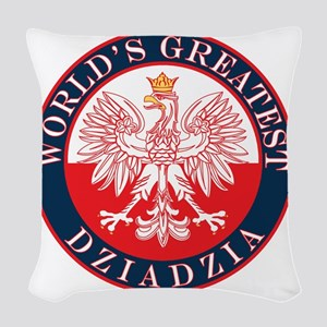 Worlds Greatest Dziadzia Woven Throw Pillow