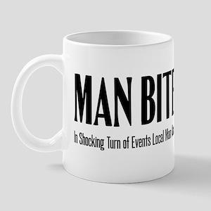 Atheiphorisms - Man Bites Dogma - Black Mug