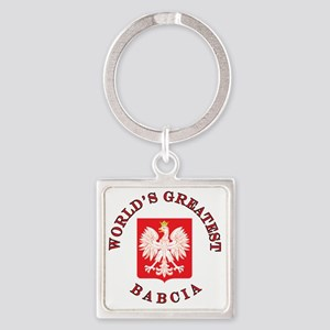 Worlds Greatest Babcia Square Keychain