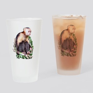 Capuchin  Monkey Drinking Glass