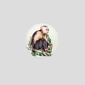 Capuchin  Monkey Mini Button