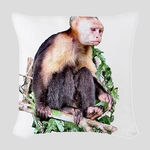 Capuchin  Monkey Woven Throw Pillow