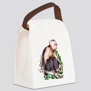 Capuchin  Monkey Canvas Lunch Bag