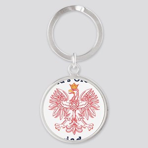 Worlds Greatest Dziadek Eagle Round Keychain