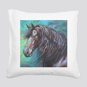 Zelvius painting by Janet Fer Square Canvas Pillow