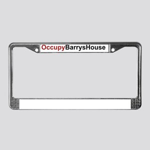 OccupyBarrysHouse License Plate Frame