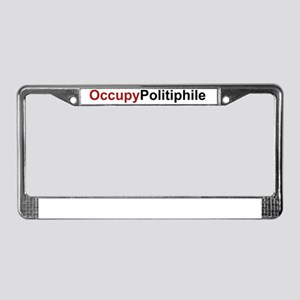 OccupyPolitiphile License Plate Frame