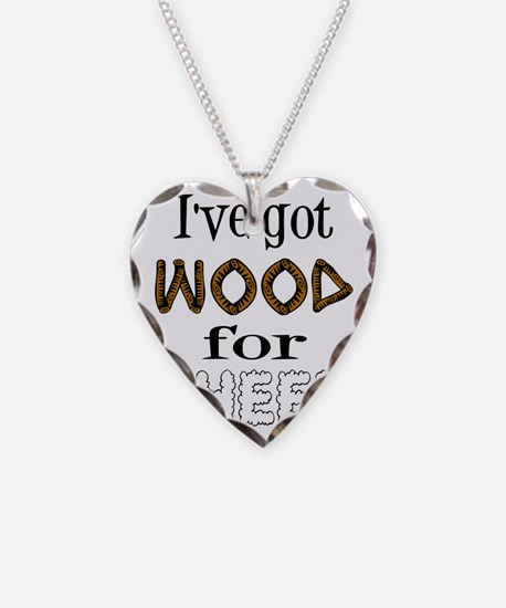 Wood for Sheep (text) Necklace