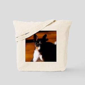 TriBasenjiPortraitDrybrush Tote Bag