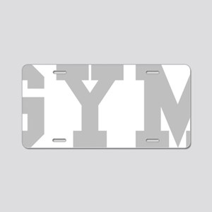 gym04 Aluminum License Plate