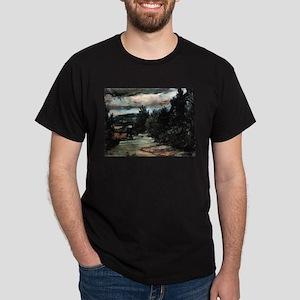 River in the plain - Paul Cezanne - c1880 T-Shirt