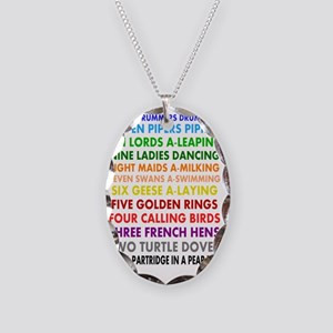 12 days of xmas Necklace Oval Charm