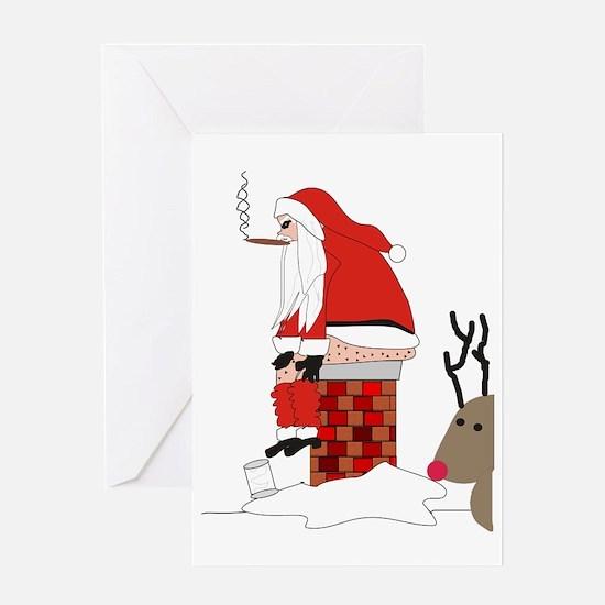 santa drawing gails Greeting Card
